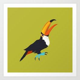 Tickled Toucan Art Print