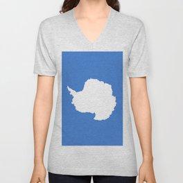 flag of Antarctic Unisex V-Neck
