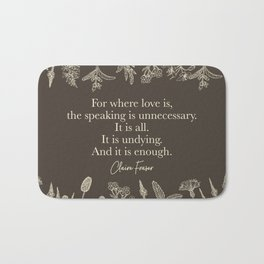 For where love is... Claire Fraser in Sepia Bath Mat