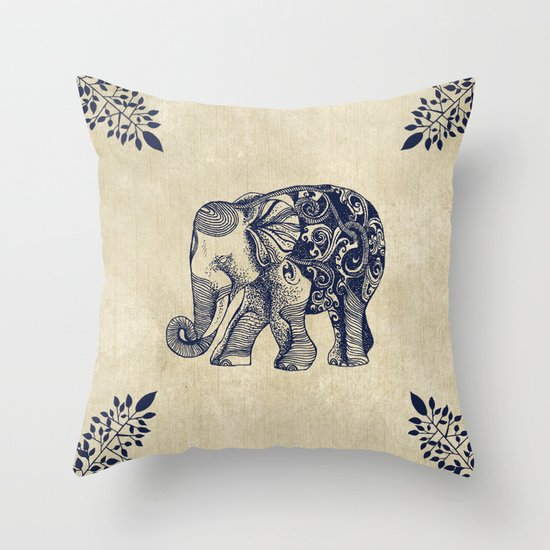 Simple Elephant Throw Pillow