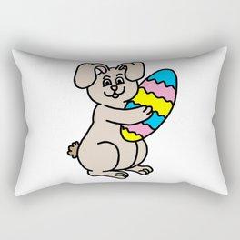 Easter Bunny And Egg Rectangular Pillow