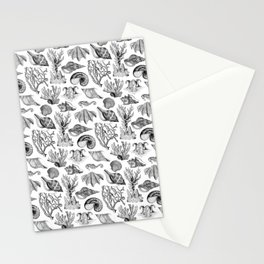 Vintage Nautical Illustrations in Black Ink Stationery Cards