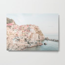 Positano, Italy Amalfi Coast Romantic Photography Metal Print