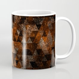 Gold beam in geometric sparkly universe Coffee Mug
