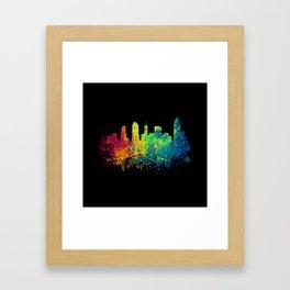 Painted Skylines: Atlanta Framed Art Print