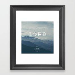 MY HELP Framed Art Print