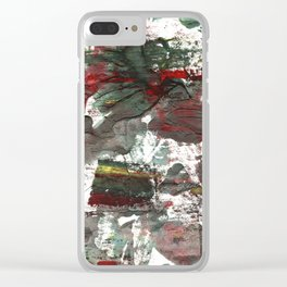 Dark liver abstract watercolor Clear iPhone Case