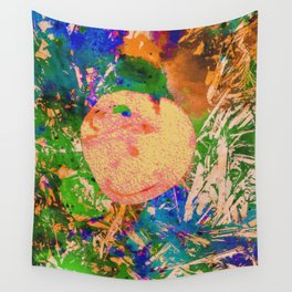 Mushrooms and Mulch Abstract Wall Tapestry