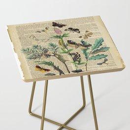 Book Art Caterpillar, Moths & Butterflies Side Table