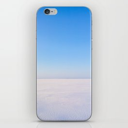 Snowy Lake Ice and Blue Sky iPhone Skin