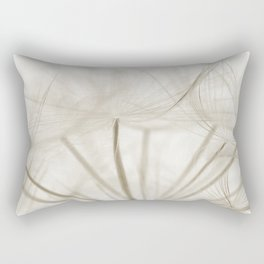 Dandelion Neutral Closeup Rectangular Pillow