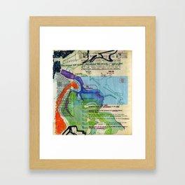 Map of New Orleans Framed Art Print