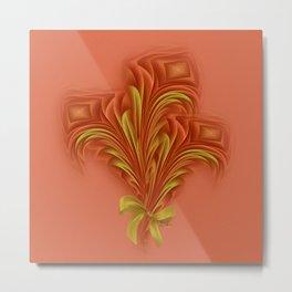 Color Meditation - Orange  Metal Print