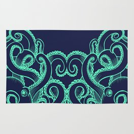 Octopus and the Deep Blue Sea Rug