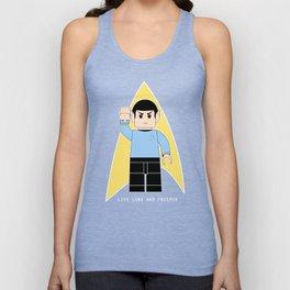 Live Long and Prosper  (Lego Spock - Star Trek) Unisex Tank Top