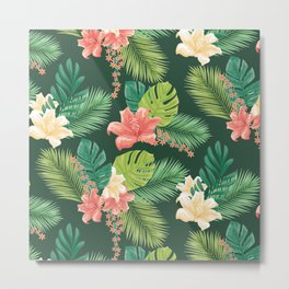 Kitschy Tropical Pattern Metal Print