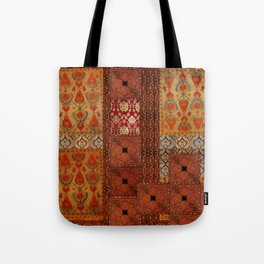 Vintage textile patches Tote Bag