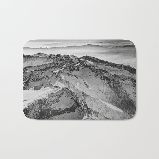 """Flying over wild mountains"" Bath Mat"