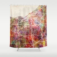cleveland Shower Curtains featuring Cleveland by MapMapMaps.Watercolors