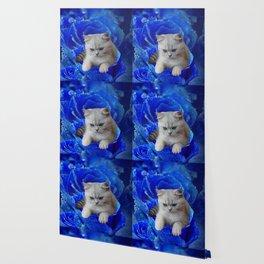 Cat and Rose Wallpaper