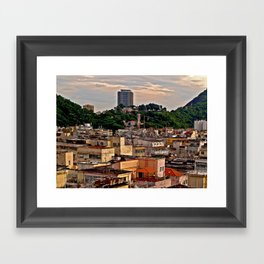 Aerial view of a low income community Framed Art Print