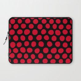 Red Apple Polka Dots Laptop Sleeve