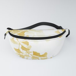 Yellow Ginkgo Leaves Watercolor Painting Fanny Pack
