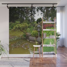 Japanese Garden Lantern Wall Mural