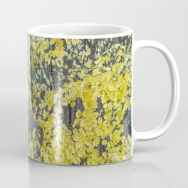 A Splay of Fall Leaves on a Forest Trail Coffee Mug