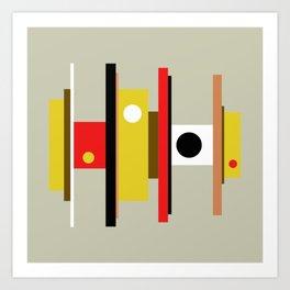 Mid Century Geometric Art Design Art Print