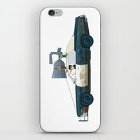 blues brothers iPhone & iPod Skins featuring The Blues Brothers Bluesmobile 2/3 by Staermose