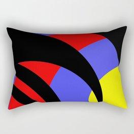 Circle curves Rectangular Pillow