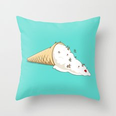 Ant Ski Throw Pillow
