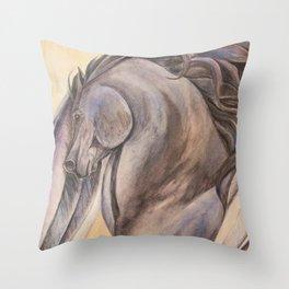 Raven Pegasus Throw Pillow
