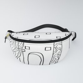 The Terrace And Place Of Olé - Drawing Fanny Pack