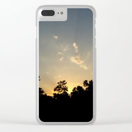 Woodies Sunset Clear iPhone Case