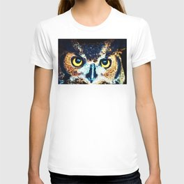 The Wise One - Owl Art By Sharon Cummings T-shirt