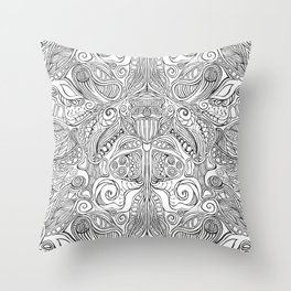 Subconscious Garden Throw Pillow