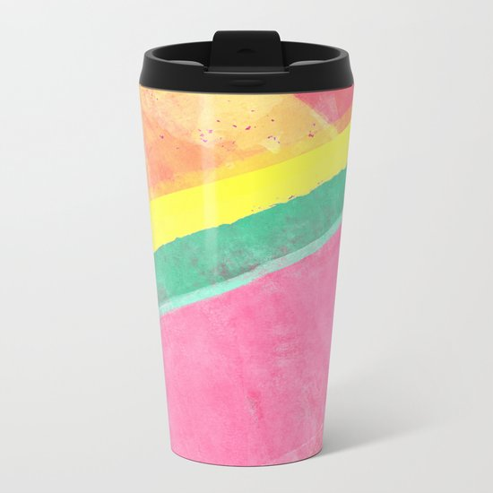 Twisted Melon Metal Travel Mug