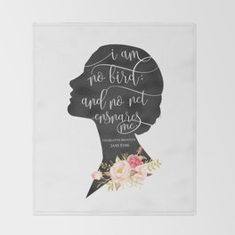 I am no Bird - Charlotte Bronte's Jane Eyre Throw Blanket