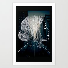 The woman who never sleep Art Print