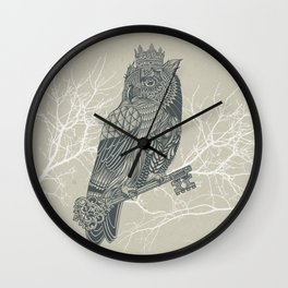 Owl King Wall Clock