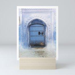Blue Door / Porte originale/ Chefchaouen / by WHITEECO Ecologic design Mini Art Print