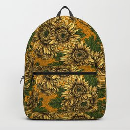 Yellow chrysanthemum flowers  Backpack