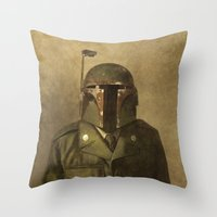 general Throw Pillows featuring General Fettson   by Terry Fan