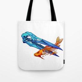 Heron and Goldfish Tote Bag