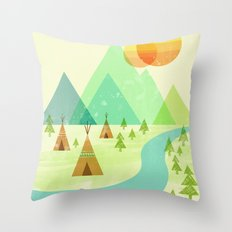 Native Lands Throw Pillow