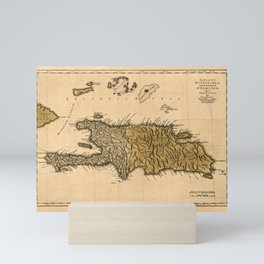 Map Of Hispaniola 1762 Mini Art Print