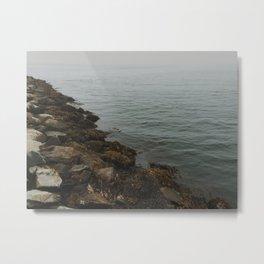 Foggy Ocean Metal Print