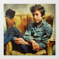 dylan Canvas Prints featuring dylan  by janice maclellan